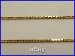 9ct Gold Chain Box Link 18 Or 20 Boxed Fully Hallmarked