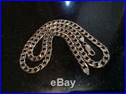 9ct Gold Chain Flat Curb Necklace Mens/Ladies Solid 375 30. G 20