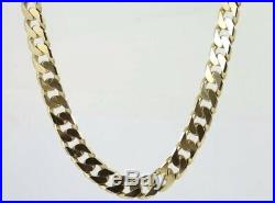 9ct Gold Chain Flat Curb Necklace Mens/Ladies Solid 375 Heavy Chunky 43. G 22