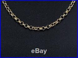 9ct Gold Chain, Hallmarked Heavy Gold Belcher Chain, Length 20.25 Inches