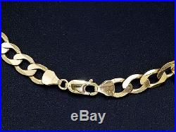 9ct Gold Chain, Hallmarked Heavy Gold Curb Chain, 20 Inch