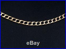 9ct Gold Chain, Hallmarked Thin Gold Curb Chain, Length 22.5 Inches