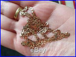 9ct Gold Chain Necklace 375 Not Scrap 4.38g 18'' long