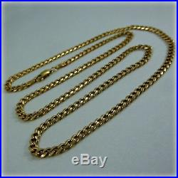 9ct Gold Classic Curb Link Necklet