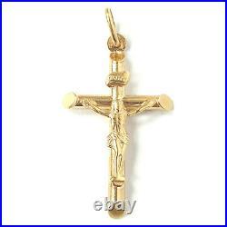 9ct Gold Crucifix Pendant Jesus Cross NEW Yellow Gold Hallmarked 1.6g