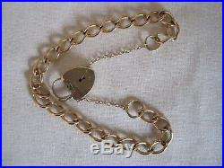 9ct Gold Curb Bracelet with Padlock