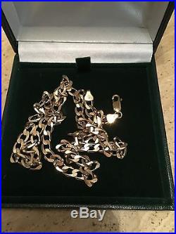 9ct Gold Curb Chain 20 FULLY HALLMARKED 19.7 Grams PERFECT CONDITION N/R