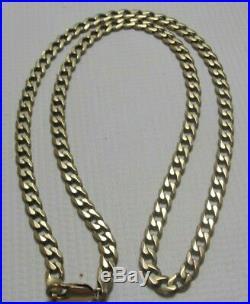 9ct Gold Curb Chain 21.2g