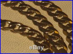 9ct Gold Curb Chain (30.9 Grams, 20) (Full UK Hallmark)