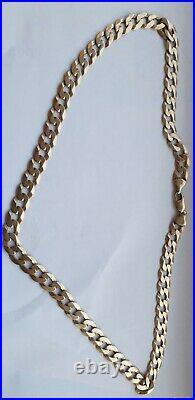 9ct Gold Curb Chain 59.43