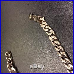 9ct Gold Curb Chain Length 19'' 86gm Secondhand