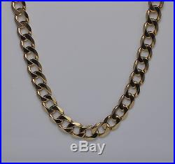 9ct Gold Curb Chain / Necklace 18 36g