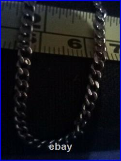 9ct Gold Curb Chain Solid Link Hallmarked 7.5'' 1.8 grams Bracelet 3mm width