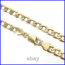 9ct Gold Curb Chain Solid Links Yellow HALLMARKED 5.8mm Wide 24 Inches 24.3g