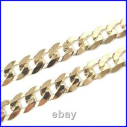 9ct Gold Curb Chain Yellow SOLID LINKS Fully Hallmarked 16.1g 20 Inches
