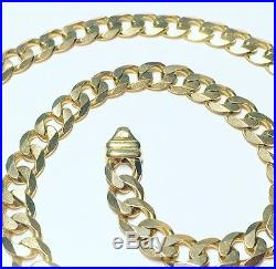 9ct Gold Curb Link Necklace Chain Heavy