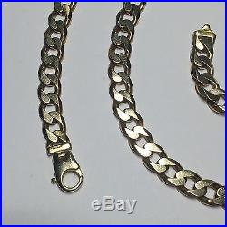 9ct Gold Curb Link Necklace Chain- Very Very Heavy