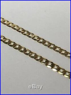 9ct Gold Curb link chain 20mm- (CHG42)