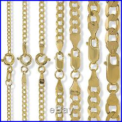 9ct Gold Diamond Cut Curb Belcher Rope Figaro Singapore Chain Necklace Bracelet