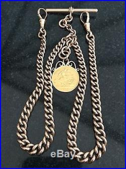 9ct Gold Double Albert Chain (45.4 grams)
