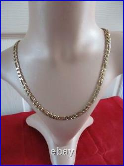9ct Gold Figaro Chain Length 20 7mm Wide Weight 30.13 gram Not Scrap