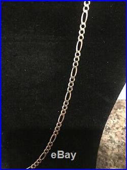 9ct Gold Figaro Chain Necklace 10.6 Grams 24 Inch Too Good For Scrap Hallmarked