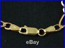 9ct Gold Figaro / Curb Chain, Kids / Womens, 18 Long / 7.6g