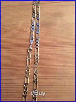 9ct Gold Figaro Curb Link Chain Not Scrap Heavy Hallmarked Gold