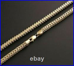 9ct Gold Franco Chain Necklace 22 INCH UK Hallmarked