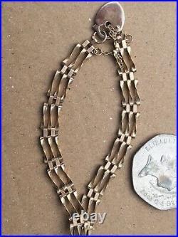 9ct Gold GATE Bracelet not scrap