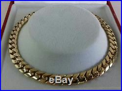 9ct Gold Gents Solid Close Link Curb Bracelet. 16.1g. 8.5 inch. Hallmarked. NEW
