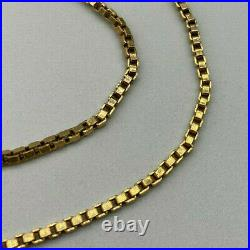 9ct Gold Hallmarked 18 Box Link Chain Necklace. Goldmine Jewellers