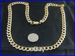 9ct Gold Hallmarked Heavy Curb Chain Mens, Womens 21 53cm / 33.2g