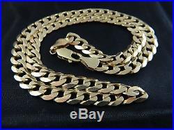 9ct Gold Hallmarked Heavy Curb Chain Mens, Womens 21 53cm / 42.8g