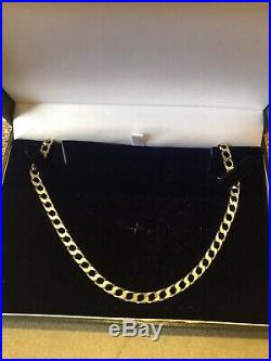 9ct Gold Hallmarked Solid Heavy Curb Chain