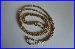 9ct Gold Halmarked Rope Chain Necklace 26 inch long 10.32g