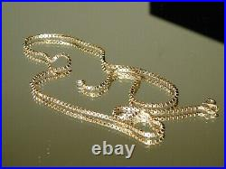 9ct Gold Heavy Box Link 21 chain Stunning 12.2g