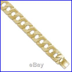 9ct Gold Heavy Cast Lizard & Polished Curb Chain Necklace 30 inch