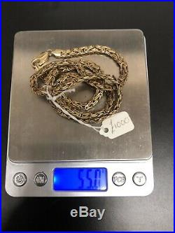 9ct Gold Heavy Chain 55g (ms266)