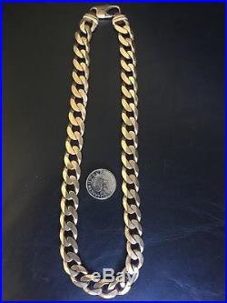 9ct Gold Heavy Curb Chain, 20.5inch 154 Grams