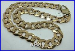 9ct Gold Heavy Curb Chain 24 Weighs 211.2g