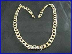 9ct Gold Heavy Curb Chain Brand New Hallmarked Italy 9k 59.5g / 2oz