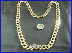 9ct Gold Heavy Curb Chain Hallmarked 375 Italy 9k 59.6g / 2oz