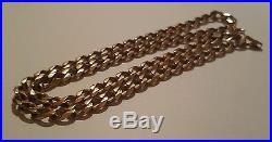 9ct Gold Heavy Curb Chain Length 22 50 grams