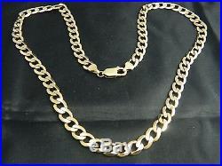9ct Gold Heavy Curb Chain, Mens / Womens, 20.5 52cm / 32.7g Over 1 Oz