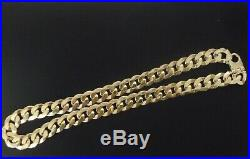 9ct Gold Heavy Curb Chain Yellow Gold Solid 24 Long 157 gm