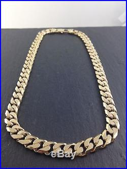 9ct Gold Heavy Curb link chain 134.2 grams not scrap from reputable jewellers
