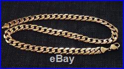 9ct Gold Heavy Diamond Cut Curb Chain 20
