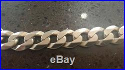 9ct Gold Heavy Flat Curb Link Chain Necklace 25 long 168g (168 grams)