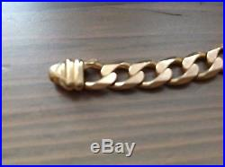 9ct Gold Heavy Flat Lobster Claw Curb Necklace Chain 43.47 Grams 22 Long